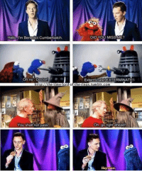 Doctor, Hello, and Memes: Hello, I'm Benedict Cumberbatch  DID YOU MISS ME?  Oh no Doctor!ee  Exterminate! EXTERMINATE!  Please  Oh, gorightiahead  You shall not pasS  Hey  marn