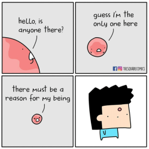 Hello, Memes, and Guess: hello, is  anyone there?  guess im the  only one here  THESQUARECOMICS  there must be a  reason for My being Existential Crizits