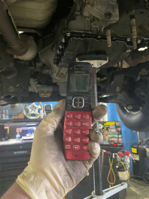 Hello? Is this the shop that previously worked on this Nissan and left half the bolts out of the subframe, trans pan, and loose mounts? Yeah just wanted to let you know I found your phone.: Hello? Is this the shop that previously worked on this Nissan and left half the bolts out of the subframe, trans pan, and loose mounts? Yeah just wanted to let you know I found your phone.