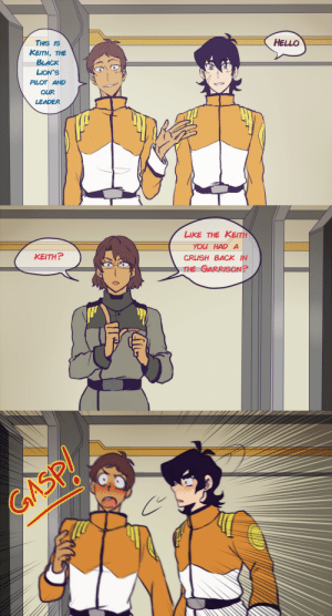 "Crush, Hello, and Lmao: HELLO  THIS IS  KEITH, THE  BLACK  LION'S  PILOT AND  OUR  LEADER   LIKE THE KEITH  YOU  CRUSH BACK IN  THE GARRISON?  HAD A  KEITH? nihui-223art:  ""That was supposed to be a secret, Veronica!!""La traición de Veronica lmao"