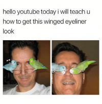 A dad like this please 😍: hello youtube today i will teach u  how to get this winged eyeliner  look A dad like this please 😍