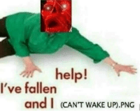 Help, Fallen, and Png: help!  I've fallen  and I (CAN'T WAKE UP).PNG <p>Help! I&rsquo;ve fallen</p>