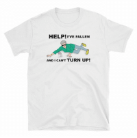 Ass, Turn Up, and Help: HELP! PVE FALLEN  AND I CAN'T TURN UP! Get these stupid ass shirts and a ton of others at the link in our bio