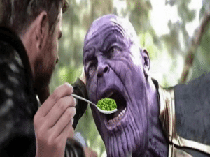 Dank, Help, and Thanos: Help Thanos to eat his peas