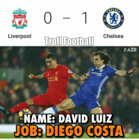 Amazing Goal 😍👌 🔺LINK IN OUR BIO!! ⬅️⚽️🔥: HELSA  LIVERPOOL  or GALL  Liverpool  Football Chelsea  Troll HAZR  meES  artered  NAME: DAVID LUIZ  TOBA DIEGO COSTA Amazing Goal 😍👌 🔺LINK IN OUR BIO!! ⬅️⚽️🔥