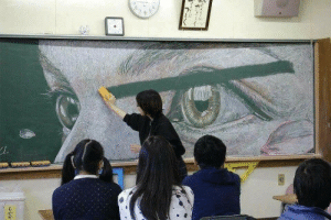 helthehatter:  jessadamsdraws:  hanitjemars:   salty-blue-mage:  A lot of people already condemn and calling this teacher a bitch/monster on the comment/reblog, not knowing the whole story. It was actually the TEACHER who drew the beautiful art on the blackboard, and the teacher is a HE, he's an accomplished artist who was trying to teach his students about the beauty of art and however changing it is. He will draw any arts by request from his students, the students will take some pictures, and then he erases it from the board, and make new ones. He's not a monster.He's actually trying to spark the students' interest in art. Funny how a simple pic without context enrages people - and the people refusing to look beyond the story. You can follow his artworks on Twitter @hamacream where he always posts/tweet his arts. Here are some samples of his artwork:   It's awsome I wish I had a teacher like that    Thank you for the context I feel much better now.  : helthehatter:  jessadamsdraws:  hanitjemars:   salty-blue-mage:  A lot of people already condemn and calling this teacher a bitch/monster on the comment/reblog, not knowing the whole story. It was actually the TEACHER who drew the beautiful art on the blackboard, and the teacher is a HE, he's an accomplished artist who was trying to teach his students about the beauty of art and however changing it is. He will draw any arts by request from his students, the students will take some pictures, and then he erases it from the board, and make new ones. He's not a monster.He's actually trying to spark the students' interest in art. Funny how a simple pic without context enrages people - and the people refusing to look beyond the story. You can follow his artworks on Twitter @hamacream where he always posts/tweet his arts. Here are some samples of his artwork:   It's awsome I wish I had a teacher like that    Thank you for the context I feel much better now.