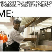 Conservative, Usa, and Add: HEM: DON'T TALK ABOUT POLITICS OI  FACEBOOK. IT ONLY STIRS THE POT  ME I try and stir the pot for all of you on Instagram to keep you entertained 😂😂😂 liberalismisamentaldisorder liberals libbys democraps liberallogic liberal ccw247 conservative constitution presidenttrump resist stupidliberals merica america stupiddemocrats donaldtrump trump2016 patriot trump yeeyee presidentdonaldtrump draintheswamp makeamericagreatagain trumptrain maga Add me on Snapchat and get to know me. Don't be a stranger: thetypicallibby Partners: @theunapologeticpatriot 🇺🇸 @too_savage_for_democrats 🐍 @thelastgreatstand 🇺🇸 @always.right 🐘 @keepamerica.usa ☠️ @republicangirlapparel 🎀 TURN ON POST NOTIFICATIONS! Make sure to check out our joint Facebook - Right Wing Savages Joint Instagram - @rightwingsavages Joint Twitter - @wethreesavages
