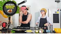 """Click, Memes, and Yah: Hen Huizhu's  1MICHELINSTAR  Mee Goreng  Yah so chef maybe you can show us the  ingredients and things? Suezanna Chloe Tan is back with a new cooking show """"Cooking with Chef Chloe""""! Click link in bio to watch the full video of her hilarious """"attempt"""" to cook Chef Hen Hui Zhu's 1 Michelin Star Mee Goreng HAHAHA!!! sp"""