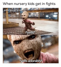 Love, Memes, and Heroes: hen nursery kids get in fights  @mormon girlprob  yells  @heroes ig  kvells adorably @mormongirlprobz you have no idea how much I love this 😂😂 mormonsgetit iamgroot • • • How's your Sunday been?? 😆