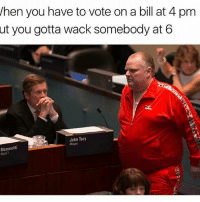 hen you have to vote on a bill at 4 pm  ut you gotta wack somebody at 6  John Tory  Mayor  Mammoliti  Ward 7