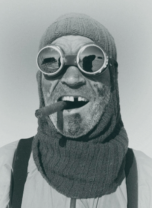 Energy, Frozen, and Lost: Henry Worsley, British explorer celebrating finishing an adventure across the Antarctic with a cigar. He lost a tooth biting into a frozen energy bar.