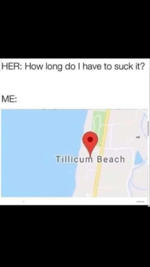 Dank, Memes, and Target: HER: How long do I have to suck it?  ME:  vd  Tillicum Beach Say no more by IeuanThe11th MORE MEMES