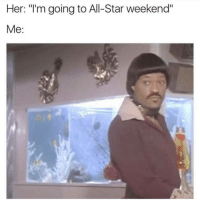 """😂😂😮 Say what? viralcypher funniest15 funniest15seconds allstarweekend Email: funniest15seconds@yahoo.com Website : www.viralcypher.com: Her: """"I'm going to All-Star weekend""""  Me 😂😂😮 Say what? viralcypher funniest15 funniest15seconds allstarweekend Email: funniest15seconds@yahoo.com Website : www.viralcypher.com"""