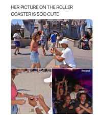 roller coaster: HER PICTURE ON THE ROLLER  COASTER IS SOO CUTE  Disneland