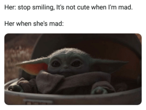 awesomesthesia:  Pretty cute: Her: stop smiling, It's not cute when I'm mad.  Her when she's mad: awesomesthesia:  Pretty cute