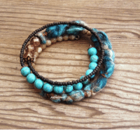 "Tumblr, Blog, and Etsy: HEraMa <p><a class=""tumblr_blog"" href=""http://heramade.tumblr.com/post/135448710170"">heramade</a>:</p> <blockquote> <p>Memory wire bracelet, felt bracelet, textile bracelet, boho jewelry, artisan jewelry, teal brown, mineral stone, gypsy, tribal, gift for her   <a href=""https://www.etsy.com/listing/261064374"">https://www.etsy.com/listing/261064374</a></p> </blockquote>"