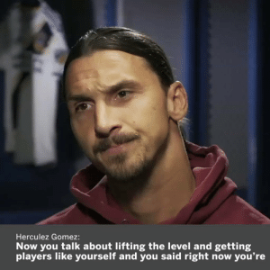 Zlatan being Zlatan  https://t.co/KWphXiHxBj: Herculez Gomez:  Now you talk about lifting the level and getting  you're  players like yourself and you said right now Zlatan being Zlatan  https://t.co/KWphXiHxBj