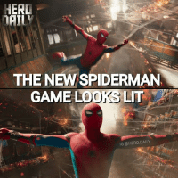 Lit, Memes, and Ps4: HERD  THE NEW SPIDERMAN  GAME LOOKS LIT  IG @HERO.DAILY I can't wait for the new Spiderman game for PS4 🤣👌 SpiderManHomecoming ps4 marvel mcu comicbookmeme triggered TomHolland peterparker