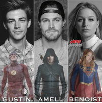 Memes, Archer, and Arrow: HERD The Scarlett Speedster, The Hooded Archer, and the Girl of Steel.🙌 Which show do you like the best, The Flash, Arrow, or Supergirl? ~ Lopro⚡️