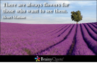 Memes, Flowers, and 🤖: here are always flowers or  those who want to see them.  Henri Matisse  Brainy  Quote