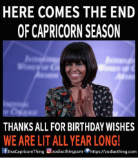 The end of Capricorn season Is here! Thank you all for the support in our team: HERE COMES THE END  OF CAPRICORN SEASON  WE ARE LITALL YEAR LONG!  flitsacapricornThing zodiacthingcom  https://zodiacthing.com The end of Capricorn season Is here! Thank you all for the support in our team