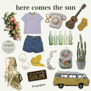 Sublime, Sun, and The Sun: here comes the sun  O6  THE SMITHS  THERK ARCHT THE  eR  PEPS  L9N CALIFGRNIA SH  SUBLIME  @caprijem