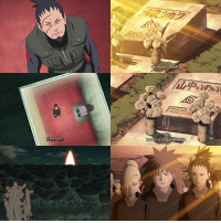 """Crying, Memes, and Forever: Here, eh?  KAKU NARA  OICHI YAMANAKA """"I could say I'm not sad, but I'd be lying. The problem is the world won't let me stay a kid forever, so I can't lie around crying about it either."""" -Shikamaru Nara"""