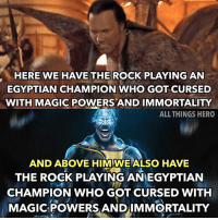 I just hope the CGI for black Adam is better.. 😂😂 I enjoyed the the rock in the Mummy I remember the cgi was so bad though. Also I think the bottom pic was made by @bosslogic but I'm not positive. Someone let me know if I'm wrong. dc therock @therock blackadam justiceleague batman benaffleck marvel avengers blackpanther spiderman infinitywar: HERE WE HAVE THE ROCK PLAYING AN  EGYPTIAN CHAMPION WHO GOT CURSED  WITH MAGIC POWERS AND IMMORTALITY  ALL THINGS HERO  AND ABOVE HIM WE ALSO HAVE  THE ROCK PLAYING ANEGYPTIAN  CHAMPION WHO GOT CURSED WITH  MAGICPOWERS ANDIMMORTALITY I just hope the CGI for black Adam is better.. 😂😂 I enjoyed the the rock in the Mummy I remember the cgi was so bad though. Also I think the bottom pic was made by @bosslogic but I'm not positive. Someone let me know if I'm wrong. dc therock @therock blackadam justiceleague batman benaffleck marvel avengers blackpanther spiderman infinitywar