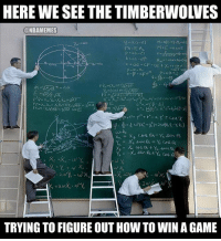 The T-Wolves dropped their 13th straight game last night...: HERE WE SEE THE TIMBERWOLVES  ONBAMEMES  FA-Fi A.  TRYING TO FIGUREOUT HOW TO WIN AGAME The T-Wolves dropped their 13th straight game last night...