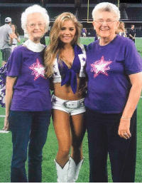 Dallas Cowboys, Cheerleader, and Superbowl: Heres a photo of a current Cowboys cheerleader with two cheerleaders from their last Superbowl Team.