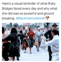 ruby bridges: Here's a visual reminder of what Ruby  Bridges faced every day and why what  she did was so powerful and ground  breaking  BlackHistoryMonth  PICKANINT  WHITE  ONLY  egentlot