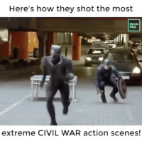 Memes, Book, and Civil War: Here's how they shot the most  Movie  Plot  extreme CIVIL WAR action scenes! My favorite Comic Book movie! Who was your favorite character from civil war? Follow for more marvel content! 👊🏼