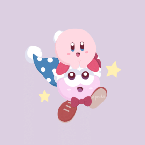 Here's my first Kirby fanart I recently did. I drew the poyo boy and the crazy grape :D: Here's my first Kirby fanart I recently did. I drew the poyo boy and the crazy grape :D