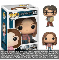 UPDATE | Snitch Seeker ⠀⠀⠀⠀⠀⠀⠀⠀⠀⠀⠀⠀⠀ — I have yet to buy any pop funkos simply because I spend all my money on art supplies 😆 ⠀⠀⠀⠀⠀⠀⠀⠀⠀⠀⠀⠀⠀ — Q: Which pop funkos do you have? (If you have a lot, name a few of them!) harrypotter: HERMIONE GRANGER  INYLE  RFAGT  Funko's latest wave of Harry Potter fiqures includes Pop! Vinyl  sets for Ginny, Remus, Luna with her lion hat, Peter, and Har  Ron, and Hermione from the film version of Harry Potter an  the Prisoner of Azkaban. The new figures will be out in August. UPDATE | Snitch Seeker ⠀⠀⠀⠀⠀⠀⠀⠀⠀⠀⠀⠀⠀ — I have yet to buy any pop funkos simply because I spend all my money on art supplies 😆 ⠀⠀⠀⠀⠀⠀⠀⠀⠀⠀⠀⠀⠀ — Q: Which pop funkos do you have? (If you have a lot, name a few of them!) harrypotter
