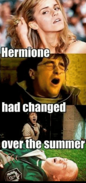 Hermione, Love, and Summer: Hermione  had changed  Over the summer I love Hermione.