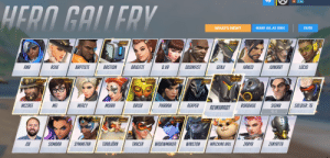 Did you guys hear about the new overwatch character being released in 2020?: HERO GALLERY  WHAT'S NEW?  MARK ALL AS SEEN  FILTER  NEW  NEW!  LUCIO  GENJI  ASHE  BASTION  BRIGITTE  D.VA  DOOMFIST  JUNKRAT  ANA  BAPTISTE  HANZO  O/98  O/73  4/97  1/91  0/98  1/97  O/101  O/100  0/81  0/101  2498  NEW!  NEW  NEW  NEW!  NEW!  NEW!  NEW  MCCREE  1/102  MOIRA  ORISA  PHARAH  SIGMA  MEI  MERCY  REAPER  ROADHOG  SOLDIER: 76  REINHARDT  0/100  0/96  1/95  1/103  3/101  2/101  3/99  o/98  0/0  2/98  NEW!  NEW  NEW  NEW  TORBJÖRN  WIDOWMAKER  WINSTON  ZENYATTA  JOE  O/101  SOMBRA  SYMMETRA  TRACER  ZARYA  WRECKING BALL  O/101  2/98  2/98  1/104  1/97  0/91  0/103  O/99  2/100 Did you guys hear about the new overwatch character being released in 2020?