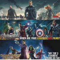 I agree with this. But I think number 3 is tied with Ironman 1 From @heroaccess - As of right now, these three MCU movies are my favorite.🔥And who knows, maybe it could change.🤔 Which are your 3 favorite? ~ Lopro⚡️: HERO  IN AMER  ENBER  WHICH ARE YOUR 3 FAVORITE VMCU FILMS?  MY TOP  FAVORITE  FLMS SO FAR  MARVEL  GUARIOIANS  THE I agree with this. But I think number 3 is tied with Ironman 1 From @heroaccess - As of right now, these three MCU movies are my favorite.🔥And who knows, maybe it could change.🤔 Which are your 3 favorite? ~ Lopro⚡️
