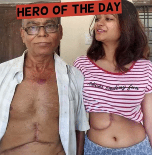 Hero of the day!  Rakhi Dutta. ❤️  Rakhi's father was having a serious liver issue and and the doctor advised him for a Liver Transplant.   After the failure of some Kolkata's renowned Doctors, she and her sister single handedly admitted her father to AIG hospital, Hyderabad, where the process began.  It is hard to imagine that Rakhi, just a 19 year old readily agreed to donate 65% of her liver without even thinking of the scars and pain which she would carry for her entire life. At such a young age, she has overcome the 'Fear' and the term like 'Impossible' which we believe, does not exist in her dictionary.  To the people who say that daughters are useless, she is an answer to them. ❤️   She is a real hero, and an inspiration to all of us. God bless you, Rakhi Dutta. Also kudos to the team and doctors of AIG Hospital. #Herooftheday: HERO OF THE DAY Hero of the day!  Rakhi Dutta. ❤️  Rakhi's father was having a serious liver issue and and the doctor advised him for a Liver Transplant.   After the failure of some Kolkata's renowned Doctors, she and her sister single handedly admitted her father to AIG hospital, Hyderabad, where the process began.  It is hard to imagine that Rakhi, just a 19 year old readily agreed to donate 65% of her liver without even thinking of the scars and pain which she would carry for her entire life. At such a young age, she has overcome the 'Fear' and the term like 'Impossible' which we believe, does not exist in her dictionary.  To the people who say that daughters are useless, she is an answer to them. ❤️   She is a real hero, and an inspiration to all of us. God bless you, Rakhi Dutta. Also kudos to the team and doctors of AIG Hospital. #Herooftheday