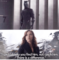"Memes, 🤖, and Marvel Universe: @heroes ig  ""I said Id helpvou find him, not catch him.  ere is a difference."" (y) Marvel Universe Rocks My World"