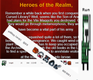 We Lost, They Did metamorphose: Heroes of the Realm,  Run  Remember a while back when you first conquere  Cursed Library? Well, seems like the Son of Ara  had plans for the Vile Maggots you destroyed.  they would go through metamorphosis, they w  have become a vital part of his army  squashed quite a lot of them, so  vengeance. We caught wind o  has to keep you occupied  h the old books in the L  h to annihilate visito  into larvae  boss  plani S  the Archiv  to find a spel  at the lea  8/8 Library Maggot  1  8/8  20  99 22210  Knight  669 909 We Lost, They Did metamorphose