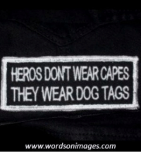 Dank, Tagged, and 🤖: HEROSDONTWEARCAPES  THEY WEAR DOG TAGS  www.wordsonimages.com <3 Veterans Day