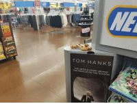Well, haven't came across this before in a Walmart...: HERSHENS  COOME  CRUNCH  TOM HANK  S  THE THE MIRACLE STORY BEHIND  ON THE HUDSON Well, haven't came across this before in a Walmart...