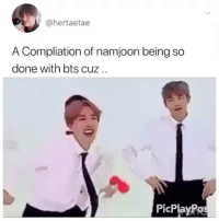 Dad, Bts, and So Done: @hertaetae  A Compliation of namjoon being so  done with bts cuz..  PicPlayPos DAD NAMJOON DOES NOT APPROVEcr: hertaetae