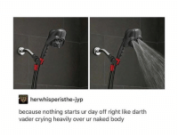 Spoiler alert: leaked scene from@the new Star Wars.: herwhisperisthe-jyp  because nothing starts ur day off right like darth  vader crying heavily over ur naked body Spoiler alert: leaked scene from@the new Star Wars.