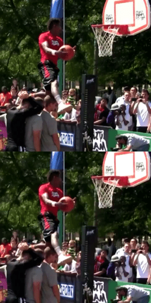 """He's 5'10"""".. He gets his head is above the rim while casually jumping over 3 people.. Insane 👀 https://t.co/rhJd36gK8Q: He's 5'10"""".. He gets his head is above the rim while casually jumping over 3 people.. Insane 👀 https://t.co/rhJd36gK8Q"""