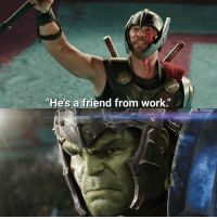 """Memes, Work, and Friendship: """"He's a friend from work. Their friendship = beating each other up."""