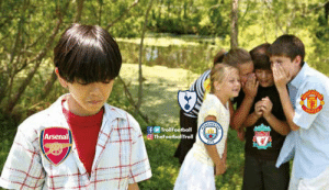 You see that kid? He's an Arsenal fan https://t.co/CYOirMLtm5: HES  ITED  CHES  TrollFootball  TheFootballTroll  Arsenal You see that kid? He's an Arsenal fan https://t.co/CYOirMLtm5