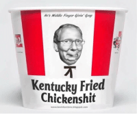 LOL! Via Kevin Karstens  Please SHARE and don't forget to LIKE the Proud Democrat!: He's Middle Finger Goop  Kentucky Fried  Chickens hit  www.kevinkarstens.blogspot.com LOL! Via Kevin Karstens  Please SHARE and don't forget to LIKE the Proud Democrat!