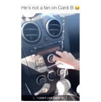 """Oh my god Credit: @m_ichael_pina: He's not a fan on Cardi B  """"I DONT LI  ARDI B"""" Oh my god Credit: @m_ichael_pina"""