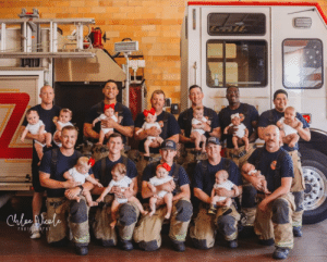 Baby Boom at my local Fire Department!: hesascuauc  PIRE  FIRE  DE  Cule eale  rio Ar Baby Boom at my local Fire Department!